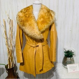The Tannery Removable Faux Fur Collared Jacket